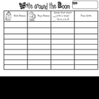 Write the room Charts