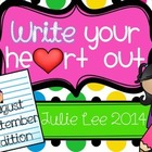Write your Heart Out August September Edition