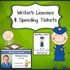 Writer's Licenses and Speeding Tickets