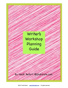 Writer's Workshop Planning Guide