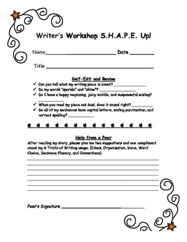 Writers Workshop Shape Up