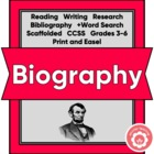 Writing A Biography, A Student Guide: Social Studies
