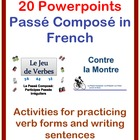 Writing Activites for the Passé Composé in French (20 Powe
