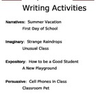Writing Activities for September