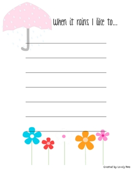 Writing Activities for Spring