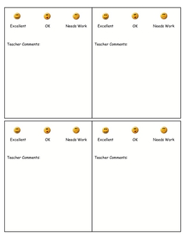 Writing Assessment/Grading Template