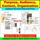 Writing : Audience and Purpose PowerPoint