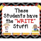 Writing Bulletin Board Display: &quot;The Write Stuff&quot;