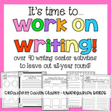 Work On Writing: Writing Center Activities