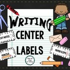 Writing Center Labels by The Teachers Work Room