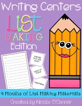 http://www.teacherspayteachers.com/Product/Writing-Center-List-Making-Edition-1359045
