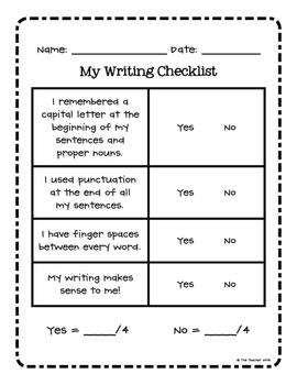 Writing Checklist - FREEBIE!