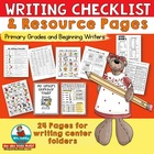 Writing Checklist and Pages for Students Writing Folders-F