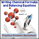 Writing Chemical Formulas and Balancing Equations Worksheet