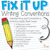 Fix it Up! Writing Conventions