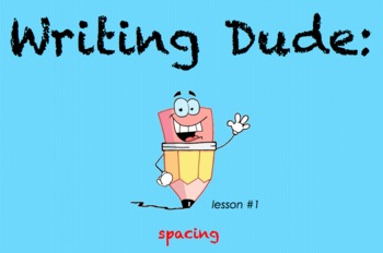 Writing Dude: Spacing