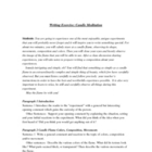 Writing Exercise &amp; Activity  CANDLE FLAME MEDITATION