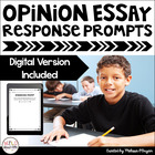 Writing Exit Slips - Opinion Essay - Grades 3-6