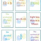 Writing Expressions &amp; Equations ~ An Algebra Card Game