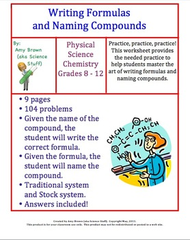 Writing Formulas and Naming Compounds Homework