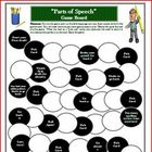 Writing Game Board for Parts of Speech Activity