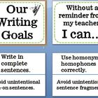 Writing Goals Bulletin Board Common Core Aligned
