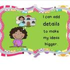 Writing Goals Bulletin Board Set