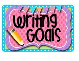 Writing Goals Chart (K-1)