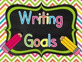 Writing Goals Chart with Editable Pages