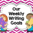 FREE Writing Goals Clip Chart CHEVRON