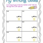 Writing Goals Teacher and Student recording tool