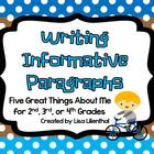Writing Informative Paragraphs ~ Five Great Things About M