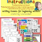 Writing Instructions Lessons for Beginning Writers