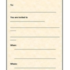 Writing - Invitation Template