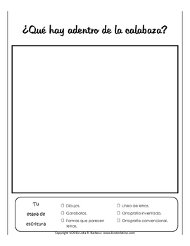 Writing - Journal Prompts for Octubre (Spanish)