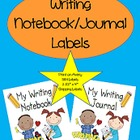 Writing Journal/Notebook Labels