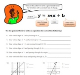 Writing Linear Equations in Slope Intercept Form y=mx+b (a
