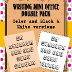 Writing Mini Office/Writer's Notebook Resource:Color & Bla