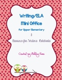 Writing Mini Office/Writer's Notebook Resources for Upper