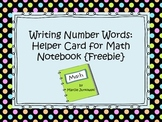 Writing Number Words Help Printable Card