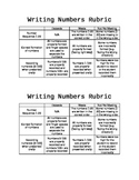 Writing Numbers Rubric