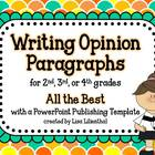Writing Opinion Paragraphs  ~ PowerPoint Project {Common Core}