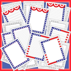 Writing Paper: Patriotic Themed Paper with 3 Different Designs