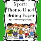 Writing Paper Sports Theme