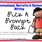 {Writing} Pick-a-Prompt Pack