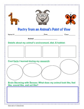 Writing Poetry From Animal's Point of View: First Person P