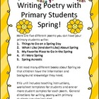 Writing Poetry with Primary Students - SPRING!
