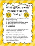 SPRING!  Writing Poetry with Primary Students