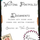 Writing Portfolio documents (Common Core aligned)