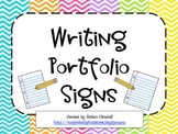 Writing Portfolios Signs